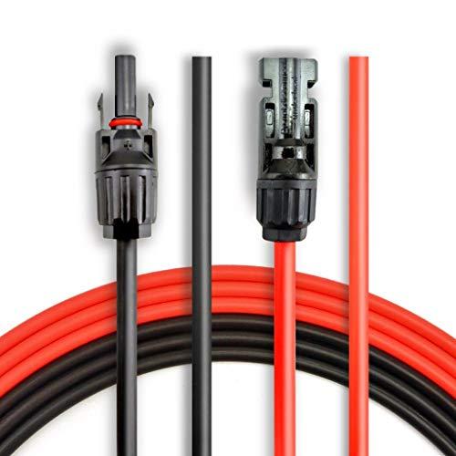 ANFIL Cable de Extensión del Panel Solar 12 AWG de 6M/20 pies, con conectores hembra y macho...