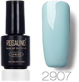 ROSALIND Gel Nail Polish Soak Off UV LED Esmalte Manicura Pedicura salón 7 ml (gris 2)