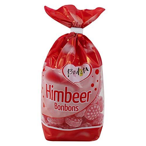 5er Pack Bodeta Himbeer Bonbons (5 x 200 g) im Bodenbeutel, Himbeerbonbons, Lutschbonbons