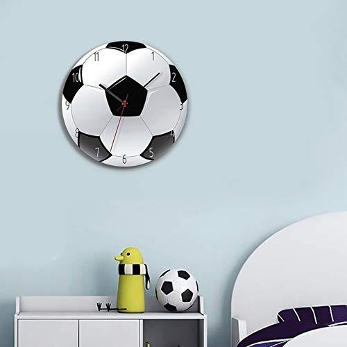ZC Fußball/Basketball/Golf Ball Wanduhr Modernes Design Für Jungen Zimmer Klassische Uhren Kreative Wanduhr Home Decor