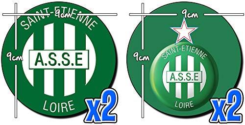 MasTazas Association Sportive De Saint-Etienne Posavasos x4 Coasters