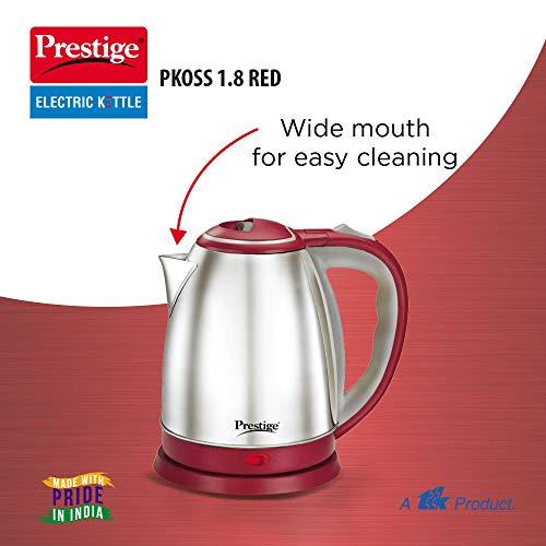 Prestige PKOSS 1.8 Litre Kettle, Red