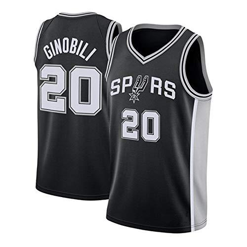 Herren Frau Basketball Swingman Jersey NBA Spurs 20# Ginobili Trikot Summer Classic Stickerei Ärmellose Weste