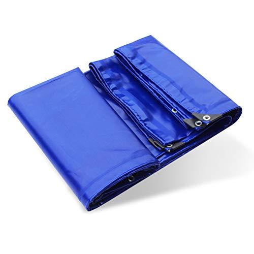ZHANGGUOHUA Hochwertige PVC-wasserdichte Plane verdicken regendichtes Tuch DREI Anti-Tuch-Überdachungs-Tuch-Auto-Segeltuch-Sonnenschutz-Farbton (Color : Blue, Size : 4x5m)