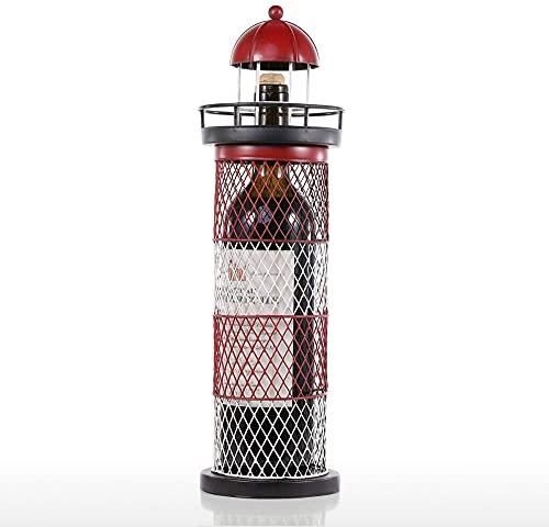 Estante De Exhibición De Botellas De Vino Estante De Vino De Faro Estante De Botellas De Vino Escultura De Metal Manualidades Prácticas Para La Decoración Del Hogar