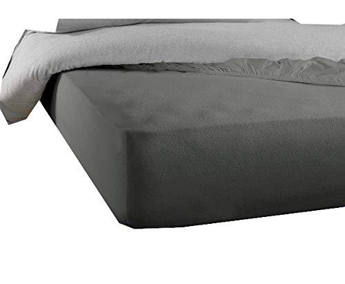 De Witte Lietaer Protector de colchón Skin120 x 190/200 cm h40 Tencel PU gris
