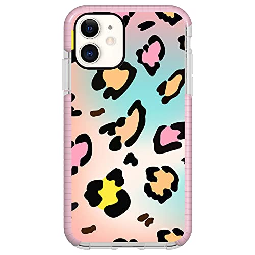"""iPhone 12 and iPhone 12 Pro 6.1"""" Case Shockproof with Military-Grade Dual-Layer, YahCase Impact Phone Cover, Fashionable Geometric Design Phone Shell for Xmas Valentines Best Friends Birthday Gift."""