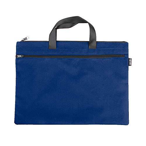 EQLEF Office Dokumententasche, Aktentasche Aktentasche Ordner A4 Ordner Reißverschlusstasche 1 Stück (Blau)
