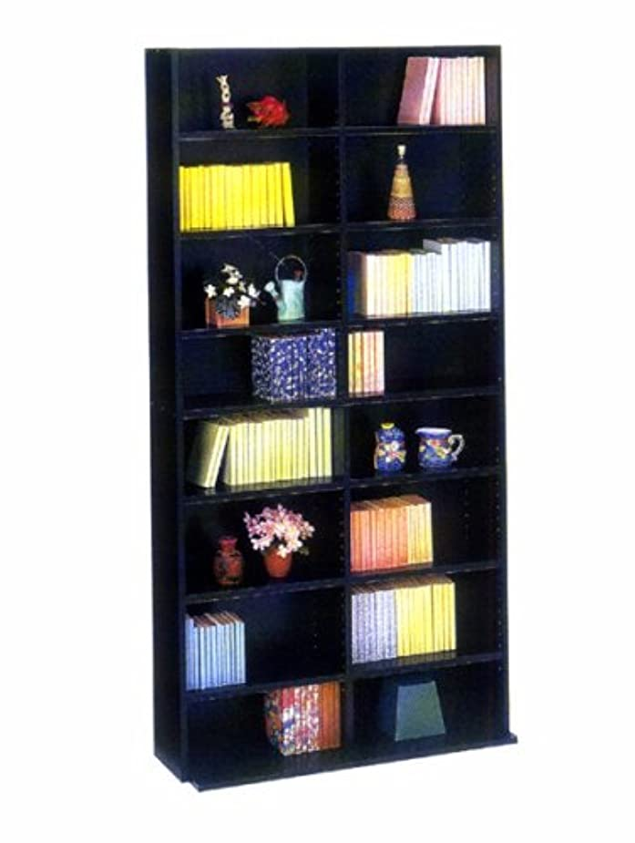 サイバースペース有益なの面では国産本棚 ブラックカラー 幅90cm 高さ180cm 文庫書棚180 日本製