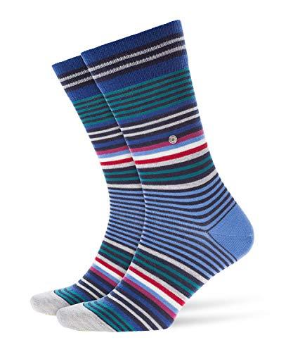 BURLINGTON Herren Stripe M SO Socken, Blickdicht, Blau (Marine 6121), 40-46