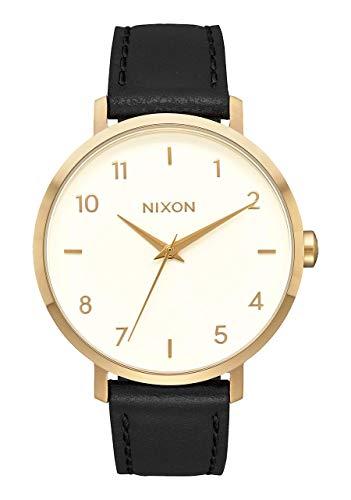 Nixon Damen Analog Quarz Smart Watch Armbanduhr mit Leder Armband A1091-2769-00