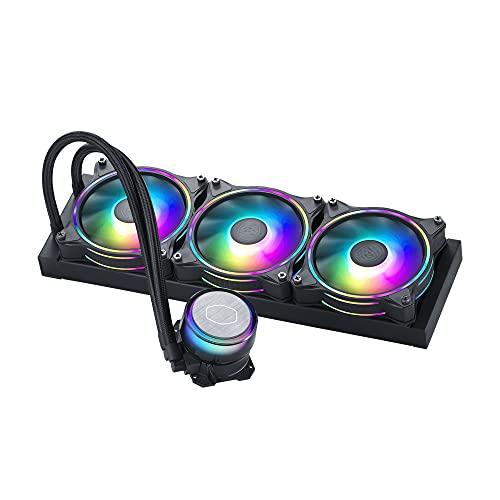Cooler Master MasterLiquid ML360 Illusion Refrigeración Líquida AIO para CPU - Bomba 3ª Generación, 3 Ventiladores ARGB Halo 120mm, Radiador 360mm, Controlador ARGB Incluido - Compatible AMD & Intel