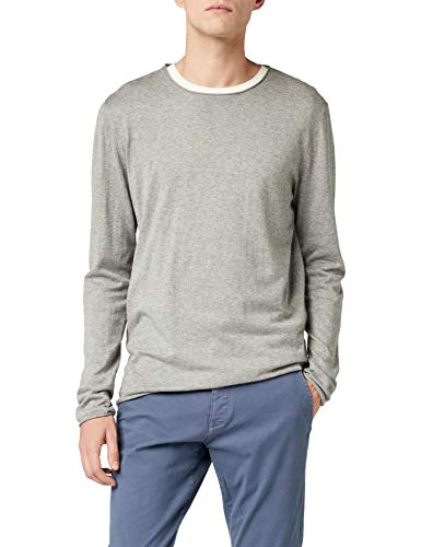 SELECTED HOMME Herren SHDDOME Crew Neck NOOS Pullover, Grau (Medium Grey Melange), Large