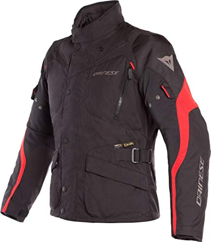 Dainese Tempest 2 D-Dry Motorrad Textiljacke Schwarz/Rot 54