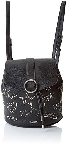 Desigual Damen Bols_galaxy Mini Backpack Rucksackhandtasche, Schwarz (Negro), 10.6x24x22.3...