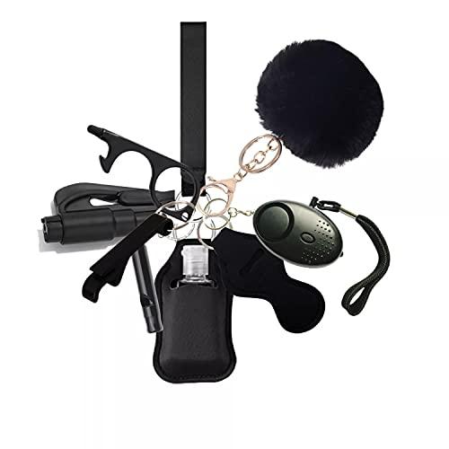 Vkgbpy Selbstverteidigungs-Schlüsselbund-Set , Selbstverteidigungs-Schlüsselanhänger-Set für Frauen und Kinder Sicherheits-Schlüsselanhänger-Zubehör mit Sicherheitston Persönlicher Alarm