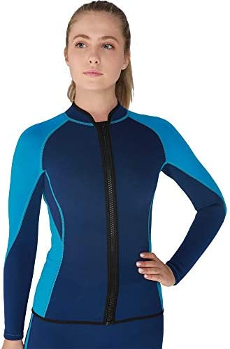 Flexel Wetsuit Tops Pants 2mm Premium Neoprene Wet Suit Jacket Scuba Diving Vest for Swimming product image