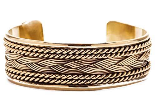 WINDALF Breiter Boho Armreif FANIA 19 mm Vikings Freundschafts Wikingerschmuck Ethno Armschmuck Vintage Antik Bronze