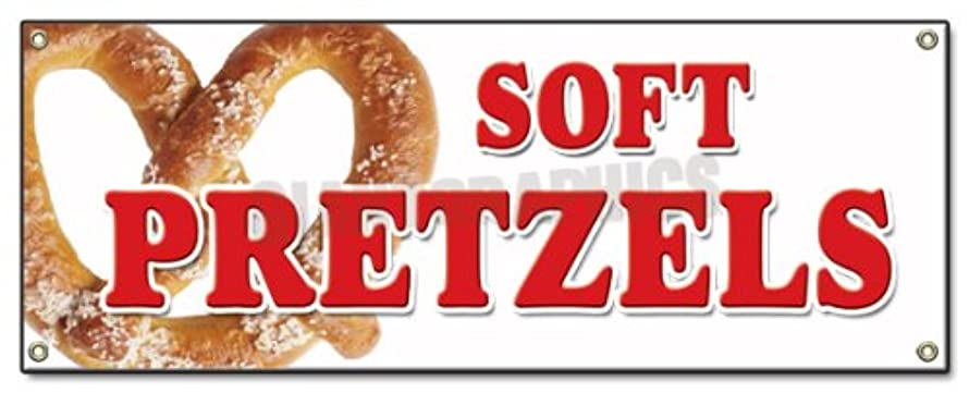 Soft Pretzels Banner Sign Pretzel Stand Cart Signs