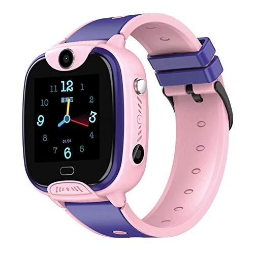 HQPCAHL Impermeable GPS Smartwatch para Niños, IP67 Impermeable Reloj Inteligente Phone con GPS Tracker SOS Chat De Voz Cámara Watch Niño Niña Compatible con iOS Android,Rosado