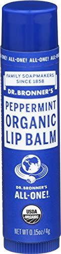 Dr. Bronner's Magic Soaps, Baume biologique pour les lèvres, Peppermint, 0,15 oz (4 g)