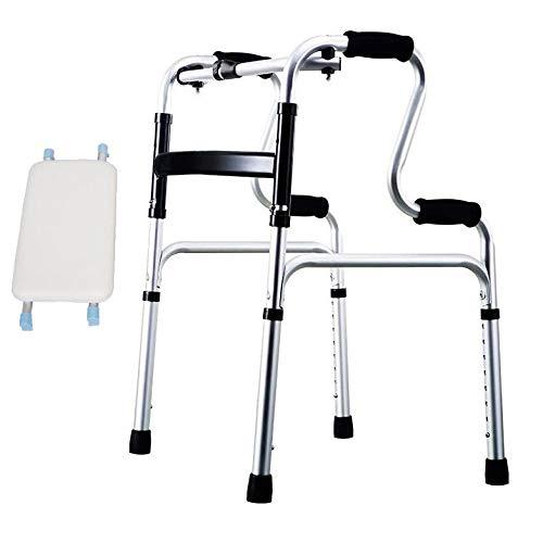ZHHB Folding Leichte Mobilität Gehhilferahmen Walker Einstellbare Höhe, Für Behinderte Und Ältere,B