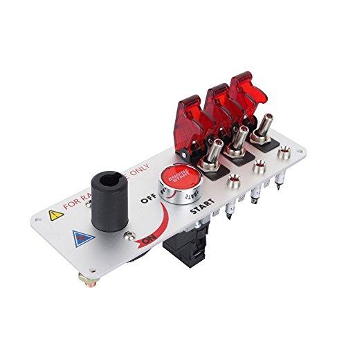 Yosoo El competir con Auto del Coche de 12V LED Toggle Interruptor Principal Panel de Comienzo del Motor Botones pulsadores Q2YY
