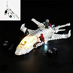 Compatible: Suitable for marvel stark jet and the drone attack toy 76130 (Please note that LEGO Set Not Included) Convenient: Powered by USB Cool Decorate: After assembly, put the model in the dark place, turn on the switch, the model will be beautif...