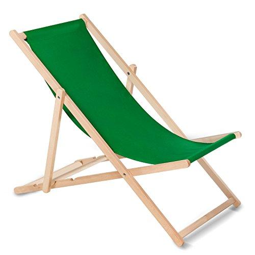 GreenBlue - Transat classique en bois de hêtre - Multicolore - Idéal pour l'été Green