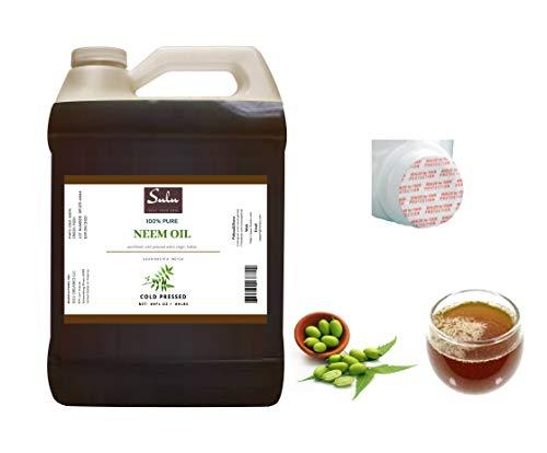 100% Pure Unrefined Virgin Cold Pressed Neem Oil 1 Gallon (128 FL.OZ)