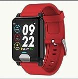 XRFHZT Outdoor-Uhr, intelligente 1.3-farbige Bildschirmarmband EKG + PPG-Test Wasserdichte Herzfrequenz-Blutdruckuhr,Red