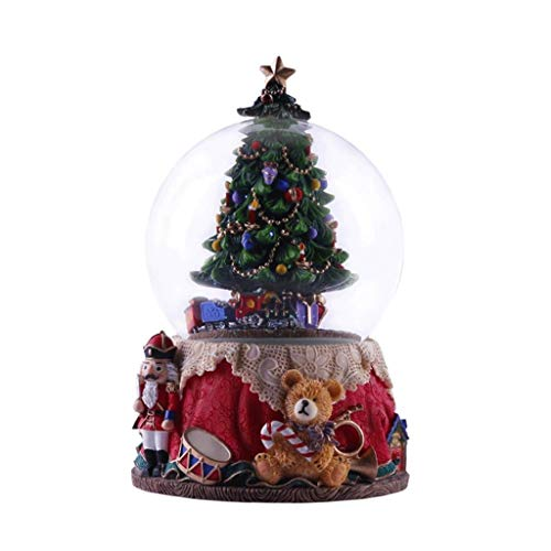 SHYPT Caja de música de Resina Decoraciones Creativas y prácticas Caja de música navideña Caja de música con árbol de Navidad