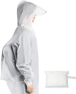 Alioay レインコート 軽量 完全防水 自転車用 ウオーキング 軽量 完全防水 レディース メンズ 通勤 通学 袖つき 収納袋付き
