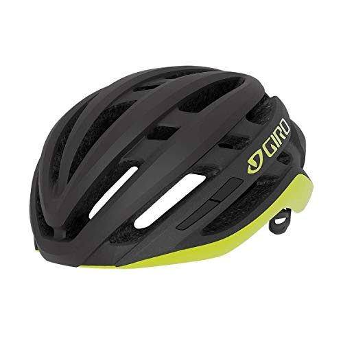 Giro Unisex– Erwachsene Agilis Fahrradhelm Road, matte black/citron, S | 51-55cm