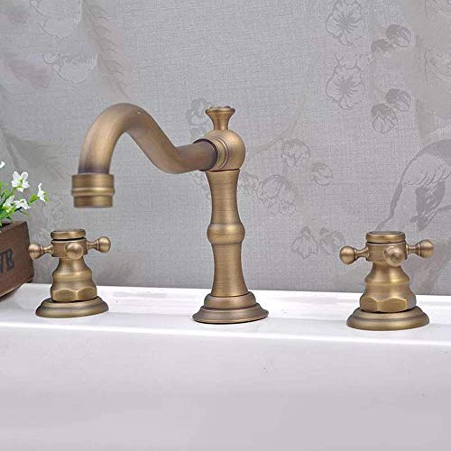 LIANGANAN Grifo de Nuevo estilo europeo de baño pared grifo de tres piezas Espiral caliente y fría mezclada grifo de la bañera Hermosa práctica