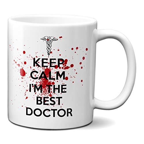 Planetacase Taza Keep Calm Im The Best Doctor Regalo para medicos Ceramica 330 mL