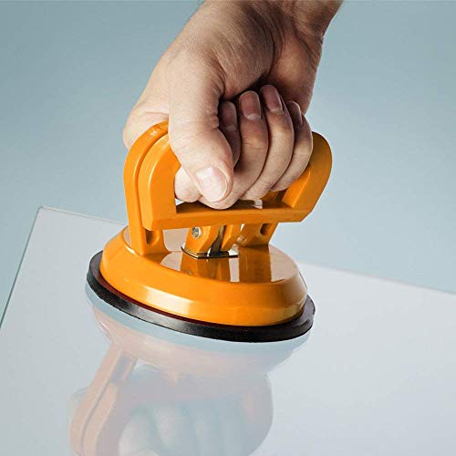 """IMT 2 Pack 4.9"""" Glass Suction Cup Tiles Window Lifter, Power Grip Vacuum Lifter for Glass/Tiles/Mirror/Granite Lifting"""