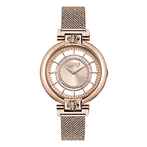 Versus Versace Silver Lake - Reloj de pulsera para mujer (36 mm), Oro rosa/plata,