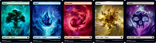 Magic: the Gathering Theros Beyond Death Common Full Art Nyx Land Set (1 Each of 5)
