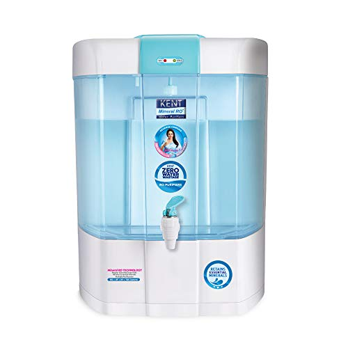 KENT Pearl 8-Litres Mineral RO + UV/UF + TDS Water Purifier,Blue and White
