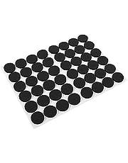48-delige meubelpads, rubberen voetjes Meubelbeschermers voor kasten Zelfklevend op stoelkussens Vloerbescherming Zwart