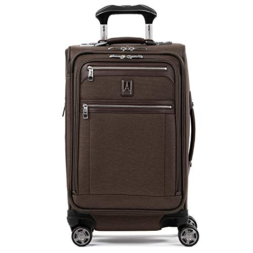 Travelpro Platinum Elite-Softside Expandable Spinner Wheel Luggage, Rich Espresso, Carry-On 21-Inch