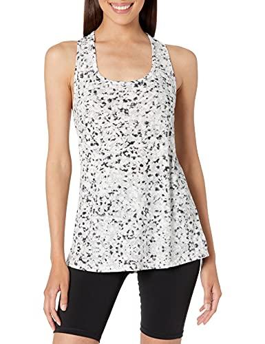 Amazon Essentials Patterned Studio Racerback Tank Camisa, Black/White Cut Print, L