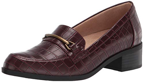 SOUL Naturalizer Women's Firstly Shoes Loafer, Wine Crocco, 5.5