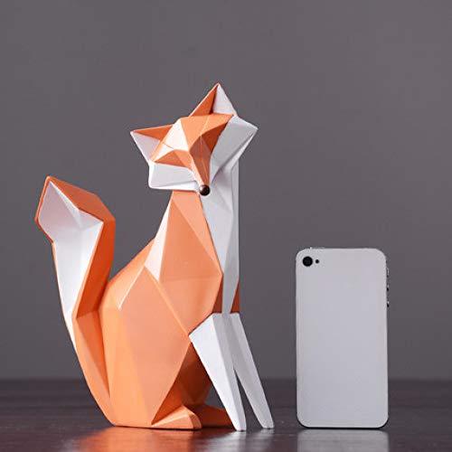 XJRG Hoofddecoratie, moderne, eenvoudige abstracte fox-vormsculptuur, decoratie, woonkamer, tv-kast, wijnkast, decoratie, accessoires, geschenken C