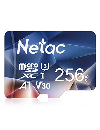 Netac Tarjeta de Memoria de 256GB, Tarjeta Memoria microSDXC(A1, U3, C10, V30, 4K, 667X) UHS-I Velocidad de Lectura hasta 100 MB/s, Tarjeta TF para Móvil, Cámara Deportiva, Gopro, Tableta, Dashcam