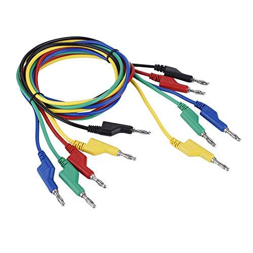 LONGWDS multímetro Leads P1036 Alto Voltaje de Dos Cabezas 1M 4mm Enchufe de plátano del Cable de Prueba for el multímetro de 5pcs