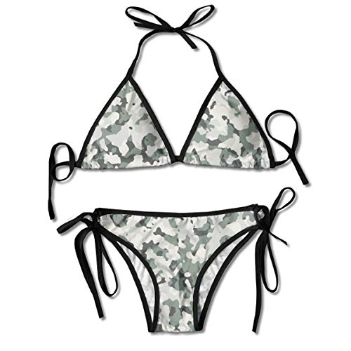 Women's Camo Military Print Bikini Set Two Piece Swimsuit Swimwear