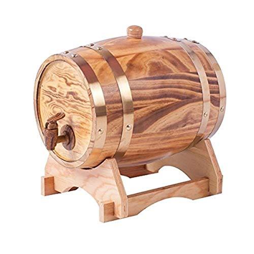barril de vino 10L Roble Vintage Barril De Vino Gabinete De Vino Dispensador De Agua De Madera Whisky Vinagre Cerveza Incorporado Papel De Aluminio Forro Una Variedad De Colores ( Color : Wood )