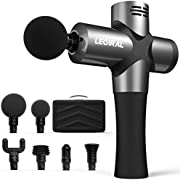 Legiral Massage Gun Deep Tissue Massager, Percussion Muscle Massage Gun for Athletes,Portable Powerful Handheld Body Massager Gun Quiet with 6 Massage Heads for Muscle Therapy Professional Le9 Pro